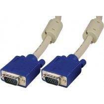 DELTACO monitor cable RGB HD 15ha-ha, 3m, gray  / RGB-8A
