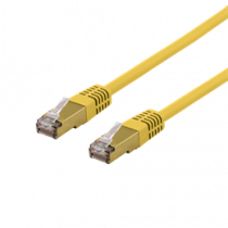 Cable DELTACO, S/FTP, 10m, CAT6a, yellow / SFTP-610GLAH