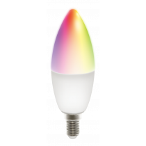 DELTACO SMART HOME LED lamp, E14, WiFI 2.4GHz, 5W, 470lm, dimmable, 2700K-6500K, 220-240V, RGB SH-LE14RGB