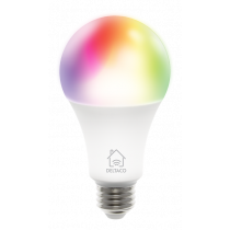 DELTACO SMART HOME RGB LED lamp, E27, WiFI 2.4GHz, 9W, 810lm, dimmable, 16m colors, 220-240V, white SH-LE27RGB