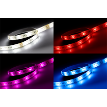 DELTACO SMART HOME LED strip, RGB, 2700K-6500K, 3m, WiFi 2.4GHz, white SH-LS3M