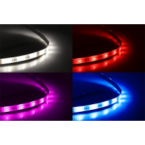DELTACO SMART HOME LED strip extension, 1m, RGB, 2700K-6500K, 6-pin, fits SH-LS3M, white SH-LSEX1M