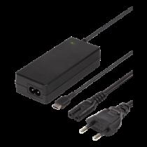 Laptop charger, 45W USB-C, 2m, USB-C PD, black DELTACO / SMP-USBC45PD