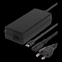 Laptop charger, 87W USB-C,  2m, USB-C PD, black DELTACO / SMP-USBC87PD