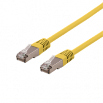 Cable DELTACO U / STP Cat6a, LSZH, 0.5m, yellow / STP-60GLAU