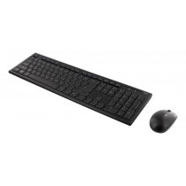 DELTACO Wireless Keyboard and Mouse, 105 Keys, LT/EN Layout, 2.4GHz USB Nano Receiver, Black  TB-114-LT