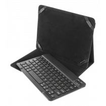 "DELTACO Case and Bluetooth keyboard for 10 ""tablets, Nordic layout , black TB-137"