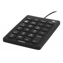 DELTACO numeric keyboard in silicone, IP68, 23 keys, USB cable 1.8m, black TB-510