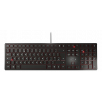 Cherry KC 6000 Slim Keyboard, SX switch, US English with € symbol layout, 1.8 m cable, black JK-1600EU-2 / TB-651-US