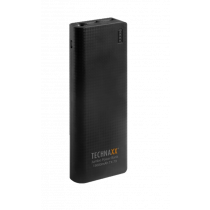 Powerbank Technaxx 15000mAh, 2x USB, black / TECH-039