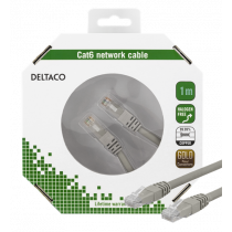 Cable DELTACO gray / TP-61-K