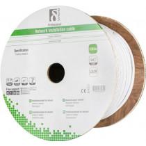 DELTACO S / FTP Cat7 installation cable, 100m drum, 600MHz, Delta-certified, LSZH, white TP-70C