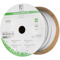 DELTACO S / FTP Cat7 installation cable, 305m drum, 600MHz, Delta-certified,  LSZH, gray TP-71