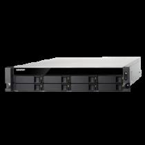 """19 """"2U NAS enclosure, 8x3.5"""" / 2.5 """"slots, Intel Zeon E-2124 3.3GHz Quad Core, Black QNAP / TS-883XU-RP-E2124-8G"""