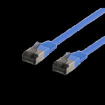 Cable DELTACO Cat6a, 5m, 1.9mm, 500MHz, blue / UFTP-2061