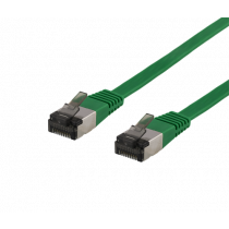 Cable DELTACO Cat6a, 5m, 1.9mm, 500MHz, green / UFTP-2062