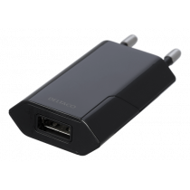 DELTACO USB wall charger, 1x USB-A, 1 A, 5 W, black USB-AC172