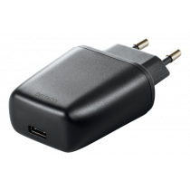 DELTACO wall charger 240V to 5V USB, 3A / 15W, 1xUSB-C, bag, black/ USBC-AC109
