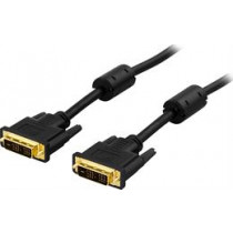 DELTACO DVI Single Link Monitor Cable, DVI-D 18 + 1-pin ha-ha, gold plated contacts, 2m, black / VE011-A