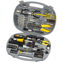 Complete tool kit for computers and accessories with 145 parts DELTACOIMP grey / VK-255