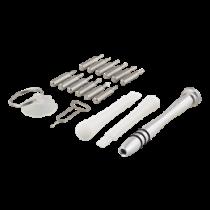 Smartphone repair tool kit, alu screwdriver, suction cup, 17 pieces DELTACO black / VK-50