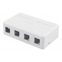 DELTACO Surface Mount for Keystone, 4 Ports, White / VR-224