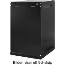 """TOTEN 10 """"wall cabinets, supplied unassembled , 6U, 280x310, glass door, black / 10-3306"""