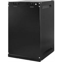 """TOTEN 10 """"wall cabinets, supplied unassembled , 9U, 280x310, glass door, black, WS.3309.9001 / 10-3309"""