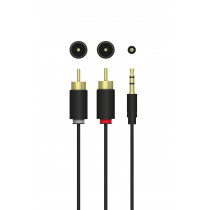 Cable QNECT 3.5 male-2xRCA male, 3m / 101980