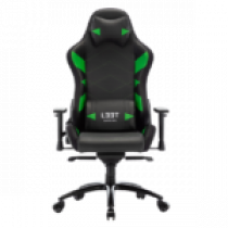 Gaming chair L33T GAMING Elite V4 (PU) Black - Green decor / 160367