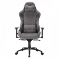 L33T Gaming Elite V4 Gaming Chair (SOFT CANVAS) Светло-серый w. декор
