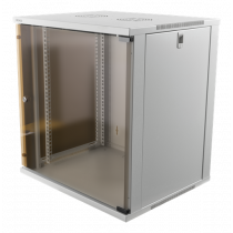"""DELTACO 19"""" cabinet, 12U, 540x450mm, standing or wall mount, glass doo"""