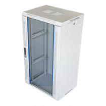 "19"" wall cabinet, 22U, 600x450, glass door,  can handle max 60kg TOTEN  white / 19-6422V"