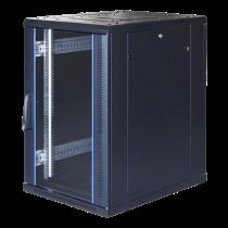 """TOTEN System G, 19 """"шкаф, 18U, 600x1000, стеклянная входная дверь, перфорация"""