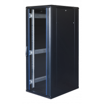"""TOTEN System G, 19 """"шкаф, 32U, 600x1000, стеклянная входная дверь, перфорация"""