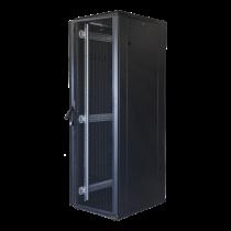 """TOTEN System G, 19 """"floor cabinet, 42U, 600x1200, perforated door front, perforated door rear, 800kg load, black 19-G6242PP"""