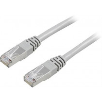 Cable DELTACO F / UTP, Cat5e, 5m, 100MHz, gray / 5-STP