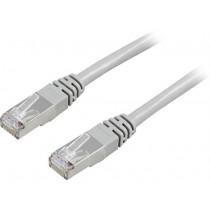 Cable DELTACO F / UTP, Cat5e, 5m, 100MHz, gray / 5-STP