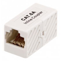 Coupler CAT6a, UTP (unshielded), female-female DELTACO white / 685-U
