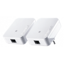 Devolo dLAN 1000 mini starter kit, 2 adapters, 128-bit AES, 400m range, white / 8153