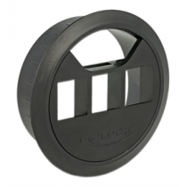 DeLOCK Keystone Modular Modular Module 60mm , 17.2mm in width, black/ 86277