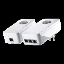 Devolo dLAN 1200 triple + starter kit, 3x Ethernet RJ45, up to 1200 Mbps, white / 9913