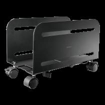 DELTACO OFFICE Универсальная мобильная подставка для ЦП, черная
