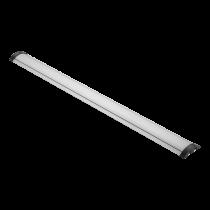 DELTACO OFFICE Алюминиевая напольная кабельная крышка, 1104 x 92 мм, серебристая