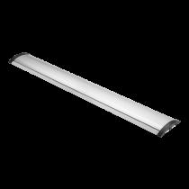 DELTACO OFFICE Алюминиевая напольная кабельная крышка, 1104 x 139 мм, серебристая
