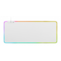 Коврик для мыши WHITE LINE RGB, 900x360x4 мм, 13 светодиодных режимов, белый