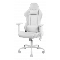 WHITE LINE WCH80 Игровое кресло, Кожа PU, железная рама, Белый