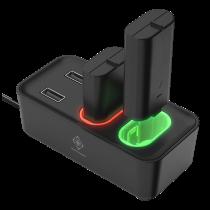 DELTACO GAMING XBOX Зарядная станция для двух аккумуляторов,