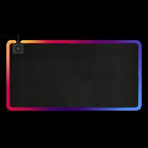 Коврик для мыши DELTACO GAMING DMP330 RGB, беспроводная зарядка 10 Вт, 1180x580x4 мм