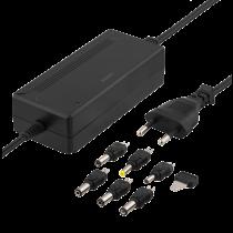 Блок питания DELTACO 100-240 В, 5-15 В постоянного тока 3 А, макс 36 Вт, 6 наконечников, черный